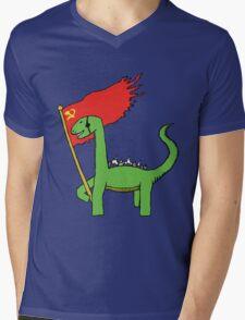 Working Class Dino Mens V-Neck T-Shirt