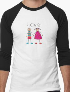 Boy + Girl = Love Men's Baseball ¾ T-Shirt