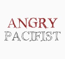 Angry Pacifist - Red And Half Black Ink by Djidiouf