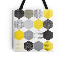 Hexagon Yellow Pattern Tote Bag