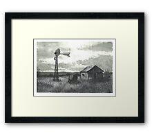 Distant Memories at the Farm - www.jbjon.com Framed Print