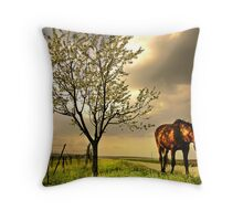 dappled blossoming light  Throw Pillow