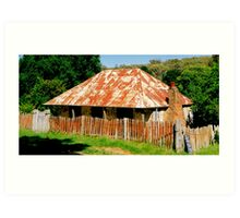 Original house from the Gold Rush at Hill End NSW Art Print