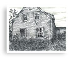 Abandoned Blues Mills Farmhouse Back - www.jbjon.com Canvas Print