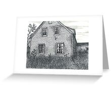 Abandoned Blues Mills Farmhouse Back - www.jbjon.com Greeting Card