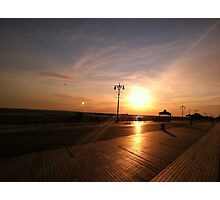 Boardwalk Sunset Photographic Print