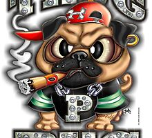 Thug Pug (Gangsta) by LinkArtworks
