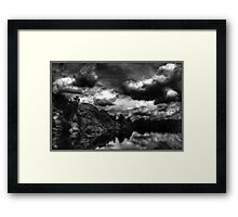 Storm in the Dells Monochrome Framed Print