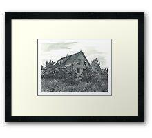 Abandoned Blues Mills Farmhouse - www.jbjon.com Framed Print