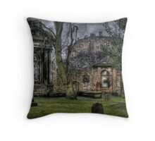Greyfriars Cemetery HDR Throw Pillow