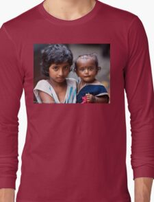 Little Girl With Baby Sister Long Sleeve T-Shirt