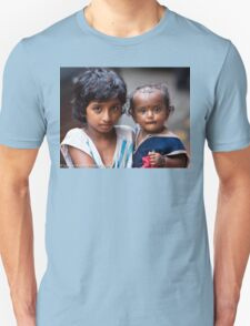 Little Girl With Baby Sister T-Shirt