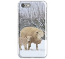Mum and Baby in the snow iPhone Case/Skin
