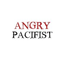 Angry Pacifist - Red And Black Ink Photographic Print