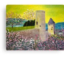 Landscape with fortress Tower Canvas Print