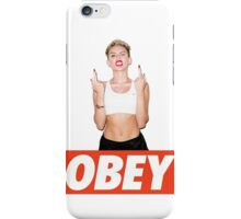 Miley Cyrus Obey  iPhone Case/Skin