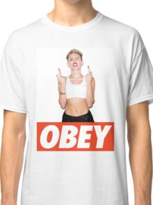 Miley Cyrus Obey  Classic T-Shirt
