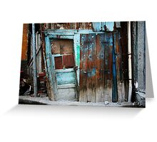 Falling Door Greeting Card