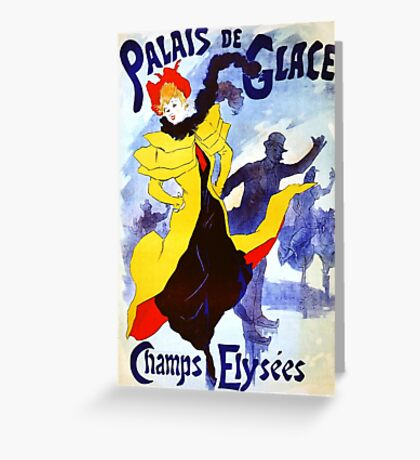 'Palais De Glace' by Jules Cheret (Reproduction) Greeting Card