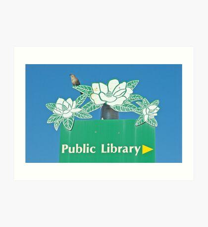 Northern Mockingbird Singing Near the Tallahassee Library Art Print