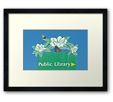 Northern Mockingbird Singing Near the Tallahassee Library Framed Print