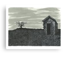 Lonely Outhouse - www.jbjon.com Canvas Print