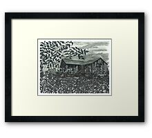 Sunflower Barn - www.jbjon.com Framed Print