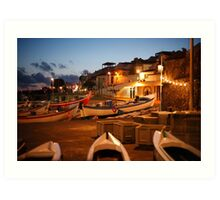 Fishing harbour Art Print