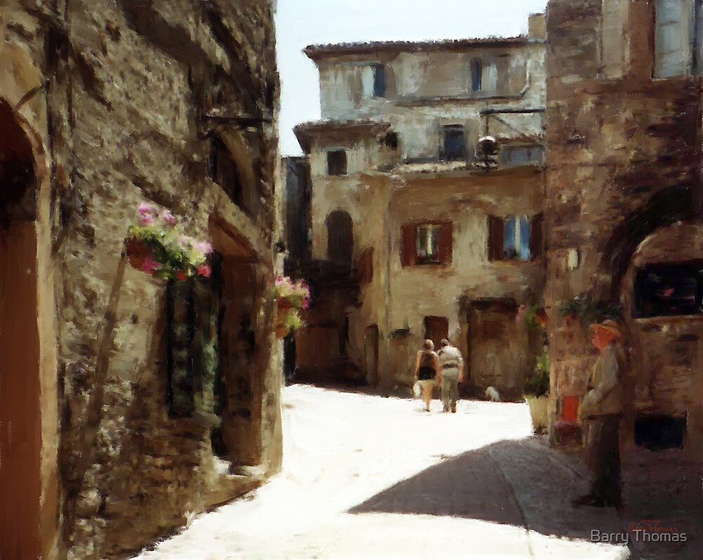 A street in Assisi by Barry Thomas