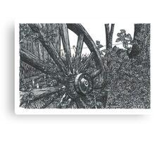 Old Wheel - www.jbjon.com Canvas Print