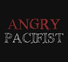 Angry Pacifist - Red And Half White Ink by Djidiouf