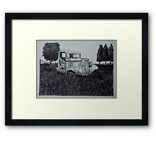 Abandoned Antique Pickup - www.jbjon.com Framed Print