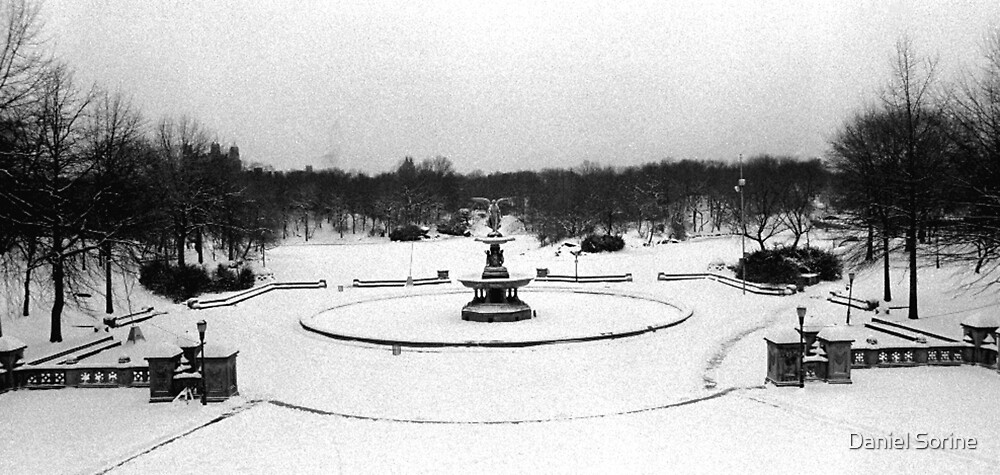 Bethesda Fountain in Central Park by Daniel Sorine
