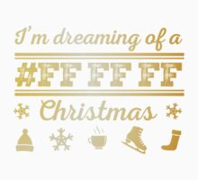 I'm dreaming of a white christmas in gold One Piece - Short Sleeve