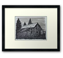 Log Shed - www.jbjon.com Framed Print