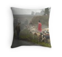 Last day hunting, Quorn Hunt Feb 2005 Throw Pillow