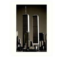 World Trade Center seen from Jersey City. Mid 1980's  Art Print