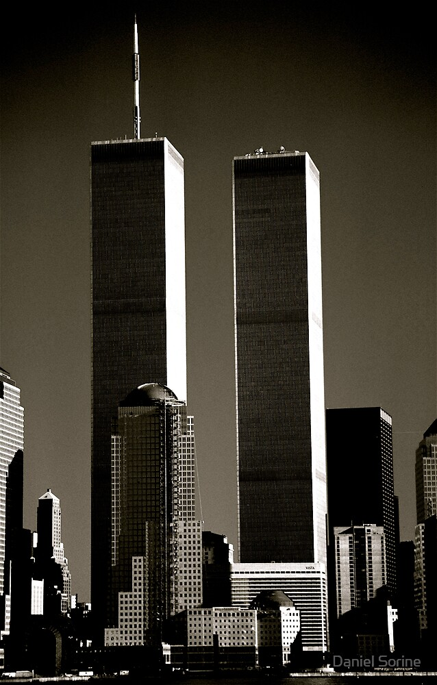 World Trade Center seen from Jersey City. Mid 1980's  by Daniel Sorine