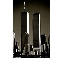 World Trade Center seen from Jersey City. Mid 1980's  Photographic Print