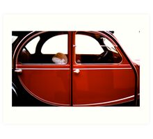 France's famous 2 CV car. Art Print