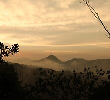 Dusk In The Mountains by aussiebushstick