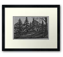 Old Woodsman Cabin - www.jbjon.com Framed Print