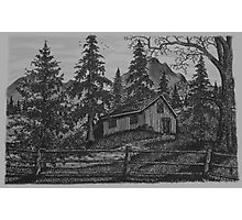 Old Woodsman Cabin - www.jbjon.com Photographic Print