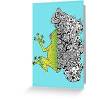 Psychedelly Frog Greeting Card