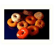 Donuts or doughnuts! Art Print