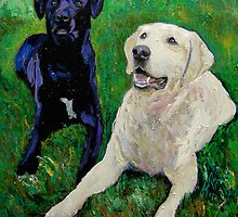 Best Buddies - Portrait of Max and Boyd by RDRiccoboni