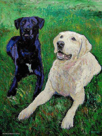 Best Buddies - Portrait of Max and Boyd by RDRiccoboni