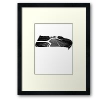 Seattle Seahawks CenturyLink Field Black and White Framed Print