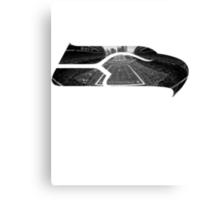Seattle Seahawks CenturyLink Field Black and White Canvas Print