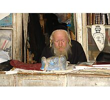 Rabbi in his shop in the neighborhood of Mea She'arim. Photographic Print